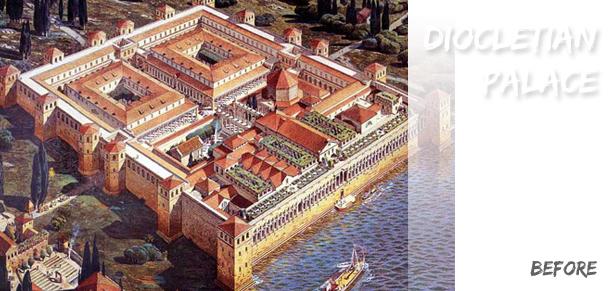 diokletian before1 Split, Dioklecijanova palača