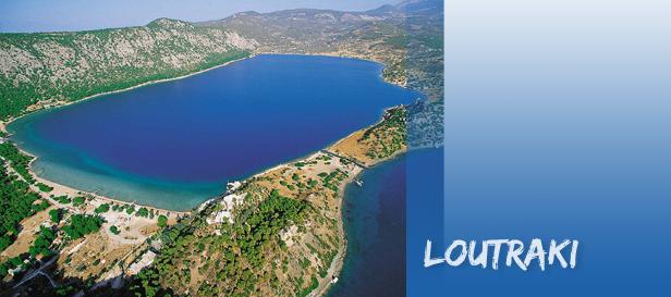 lutraki jezero Lutraki, najstarije toplice u Grčkoj