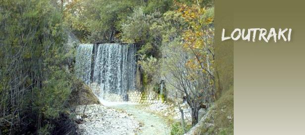 lutraki vodopad Lutraki, najstarije toplice u Grčkoj
