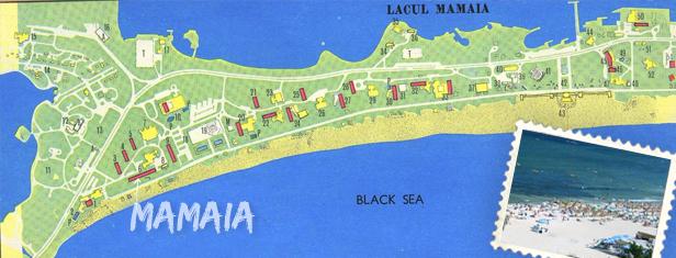 mamaia map Mamaia, Rumunjska obala