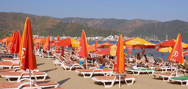 marmaris beach Marmaris, od ribarskog sela do urbanog centra