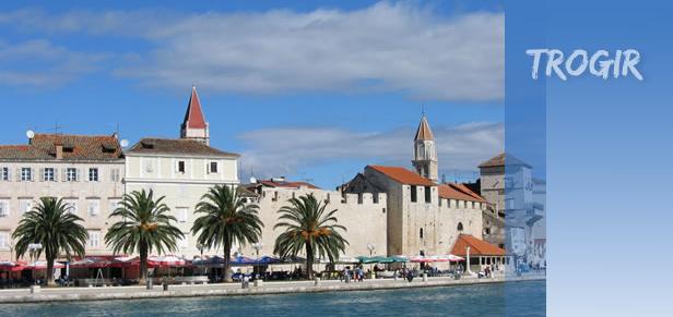 trogir obala Trogir, Dalmacija sa bezbroj zaljeva