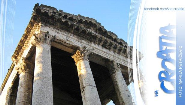 augustov hram Pula, istarski duh staroga Rima