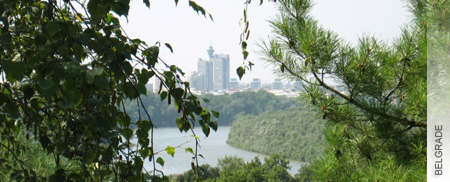 The city of Belgrade