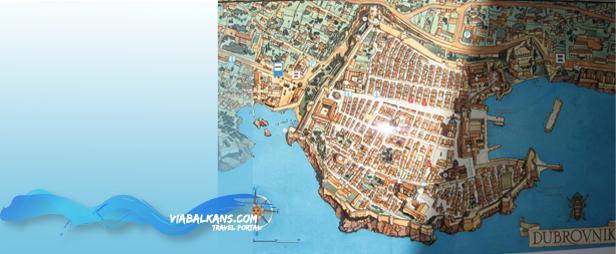 plan grada Dubrovnik  DUBROVNIK, najblistaviji biser Jadrana