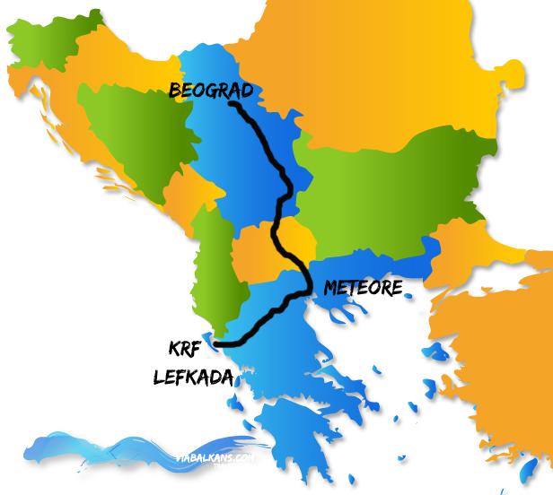 mapa grcke meteori Meteore, Krf, Lefkada   Via Balkans mapa grcke meteori
