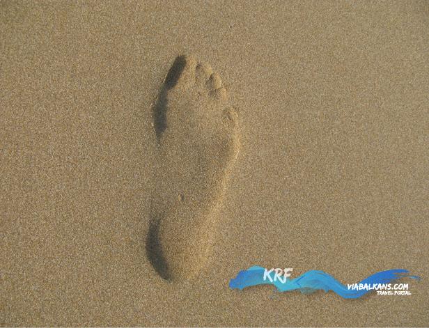 otisak stopala na plaži