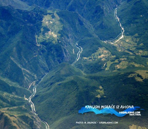Kanjon Morače - avio snimak