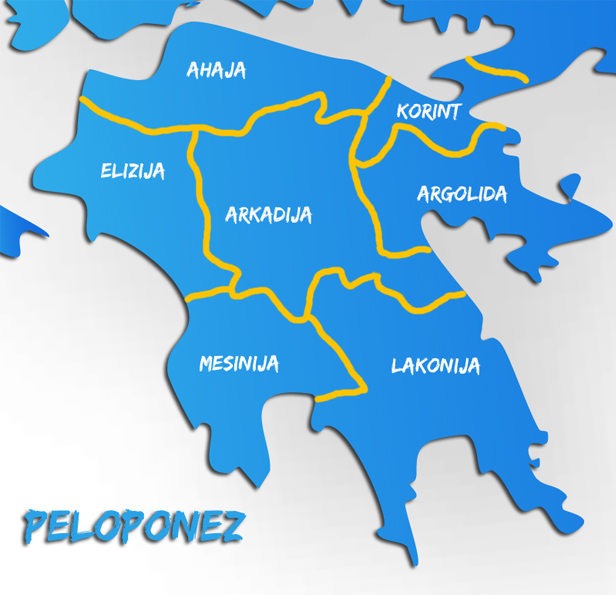 karta peloponeza