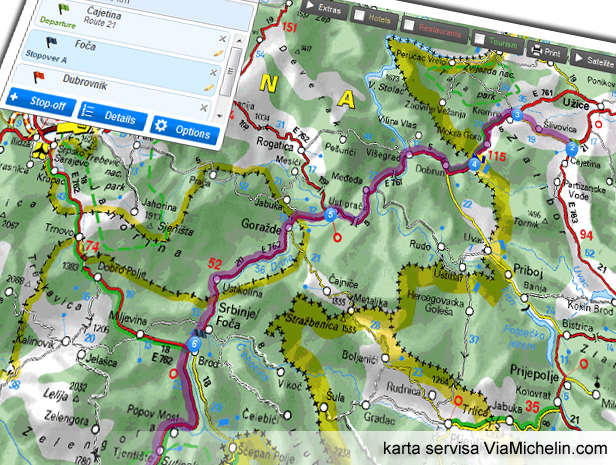 mapa beograd herceg novi Put za Crnu Goru preko Bosne   Via Balkans mapa beograd herceg novi